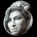Amy Winehouse Sculpture - Grey