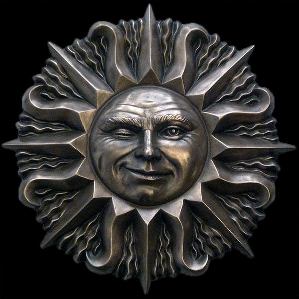Bronze Sun Face