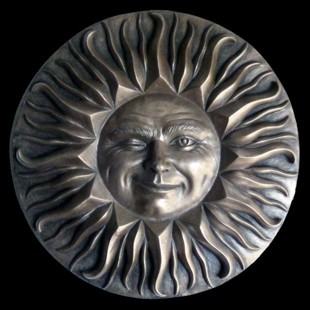 Winking Sunface Sculpture Bronze