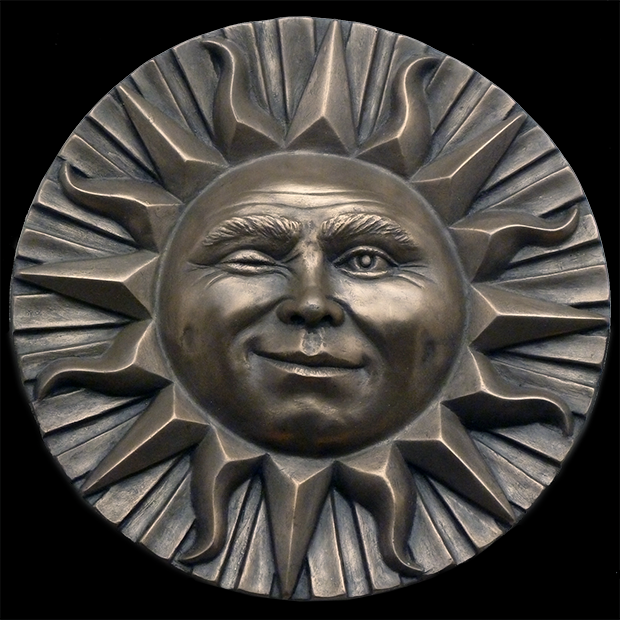 Winking Sun Wall Plaque